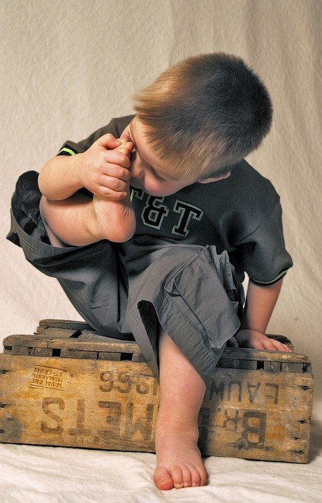 Child, Foot, Feet, Boy, Toes, Studio Photography, Smell