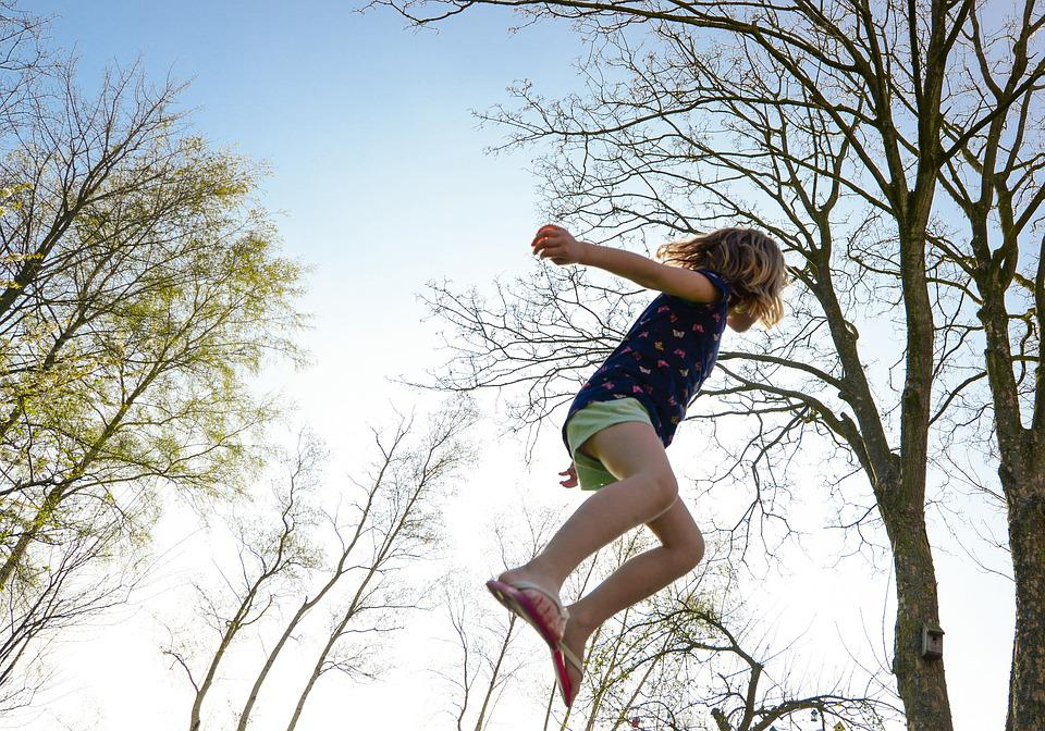 Trampoline, Girl, Play, Jump, Fun, Activity, Child