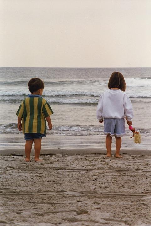 Children, Beach, Shore, Summer, Child, Happy, Fun