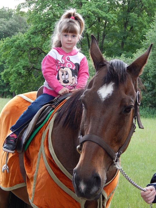 Horse, Animal, Child, Girl, Ride