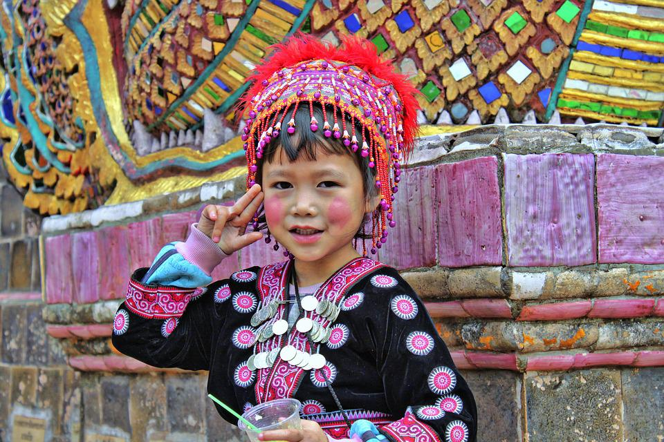 Child, Asia, Temple, Girl