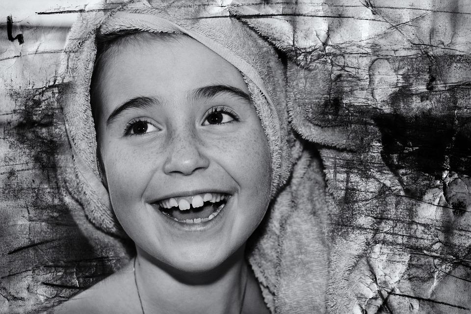 Child, Girl, Face, Laugh, Happy, Portrait, Close