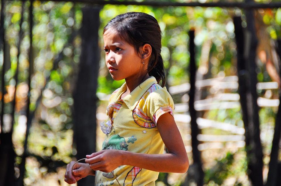 Girl, Kambotscha, Child