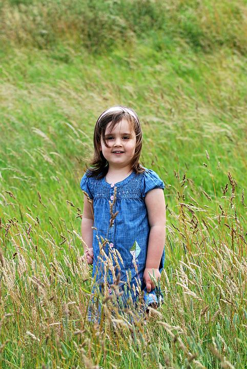 Child, Grass, Pose, Beautiful, Girl