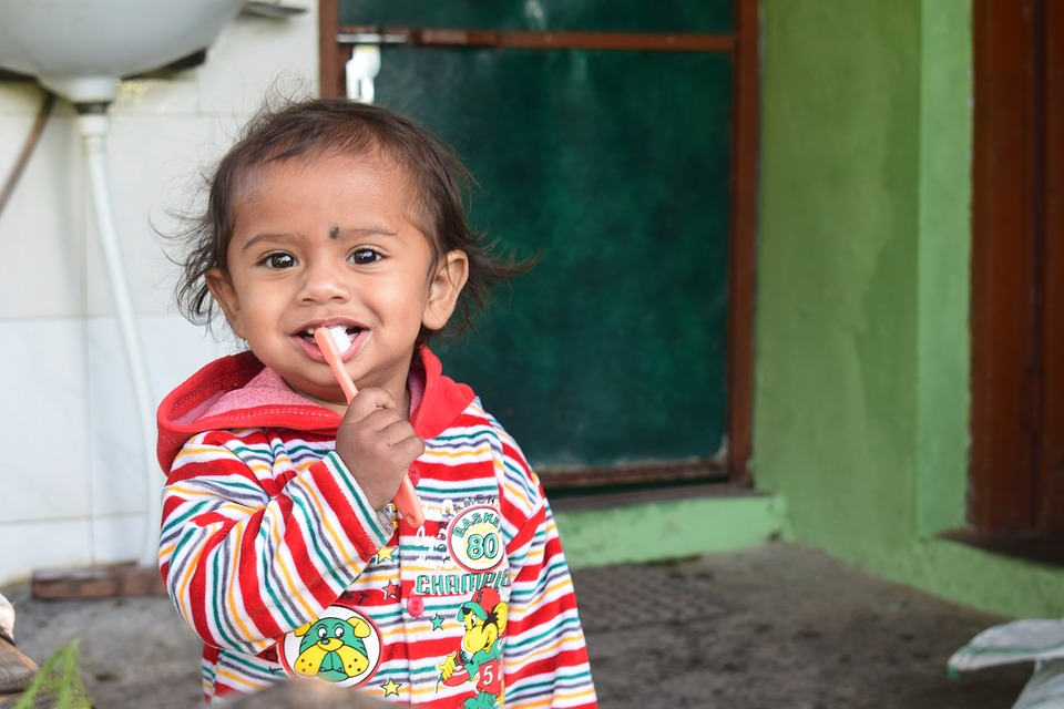 Little, Kid, Brushing, Teeth, Child, Childhood, Girl