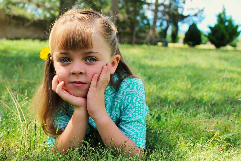 Grass, Nature, Summer, Child, Hayfield, Beautiful