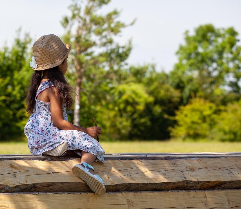 Child In Profile, Child In Sun, Child In Hat