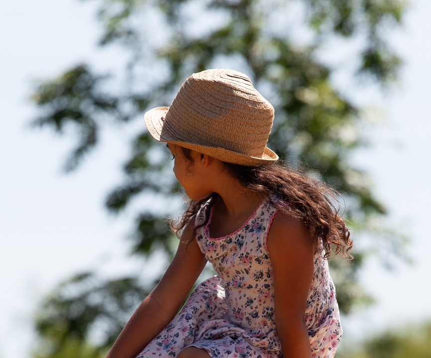 Child In Profile, Child In Sun, Child In Hat