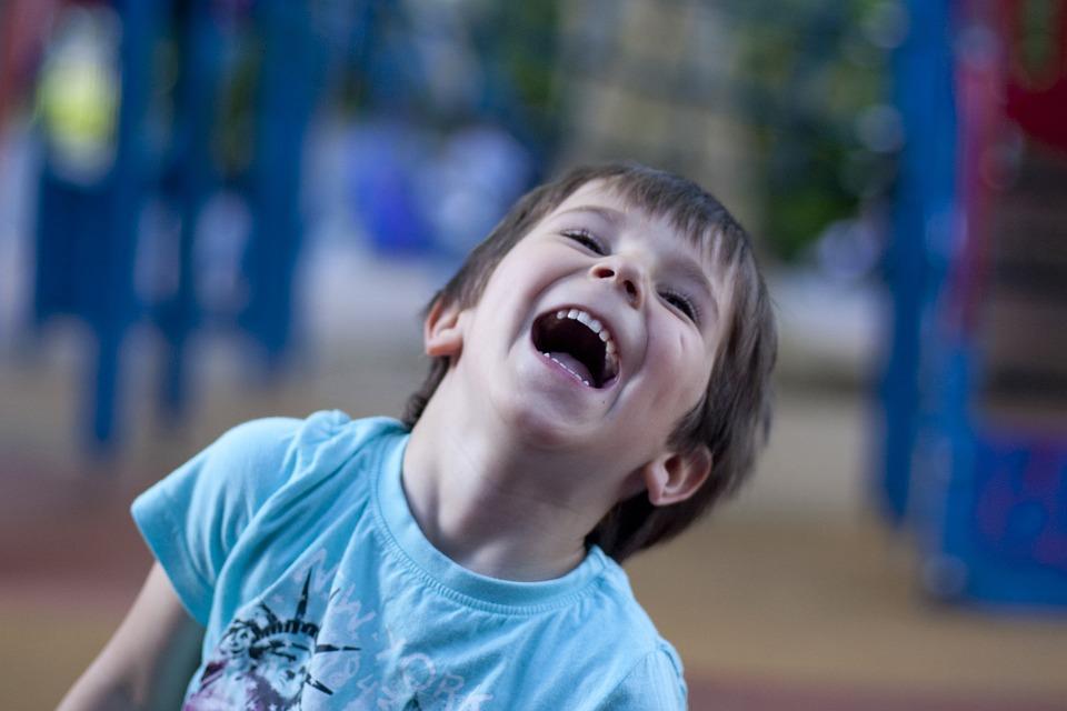 Child, Laughter, Happy, Playground