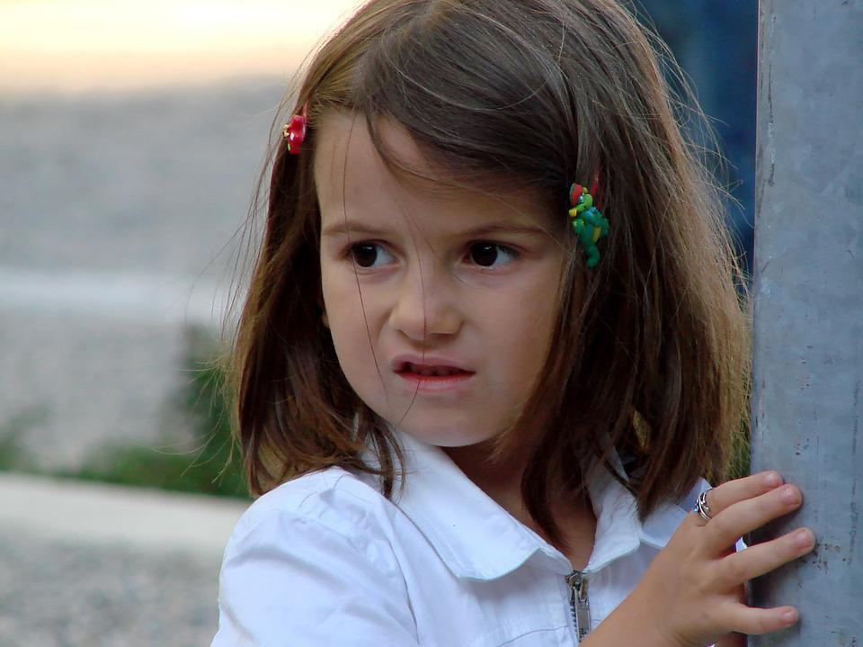 Girl, Child, Look, Eyes