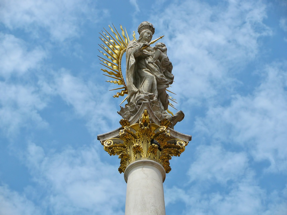 Column, Madonna, Child, Jesus, Jesus Christ