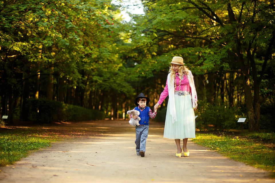Park, Mother And Son, Family, Stroll, Mom, Child, Baby