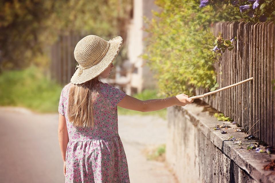 Person, Human, Child, Girl, Dress, Hat, Summer, Away