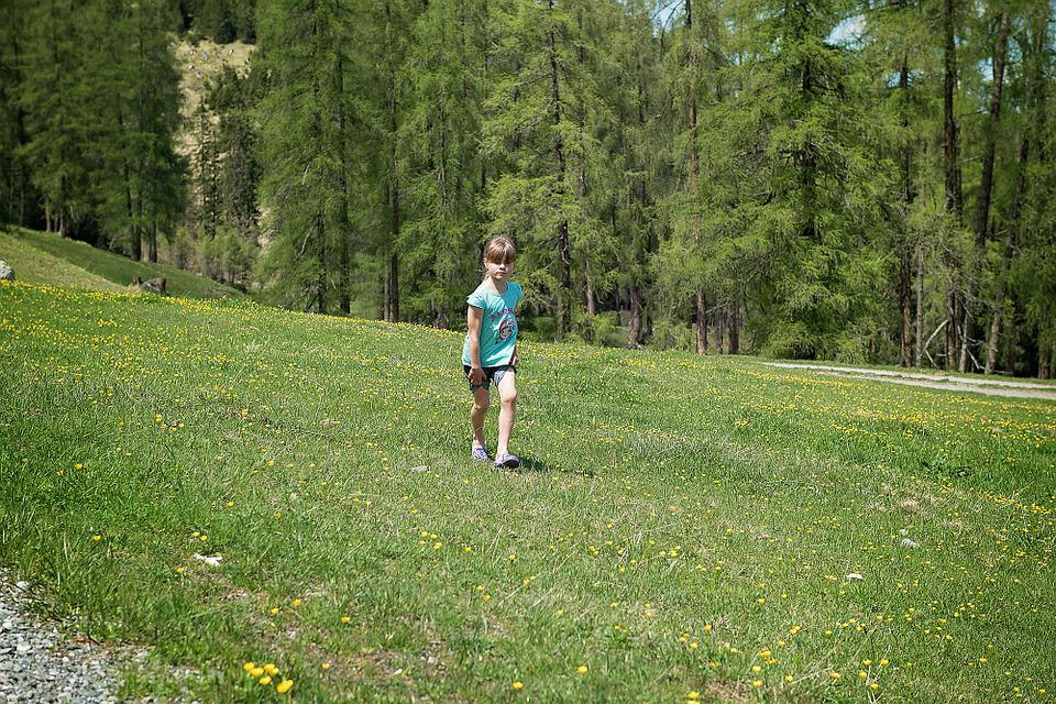 Landscape, Meadow, Child, Girl, Run, Nature