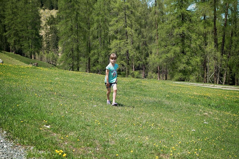 Landscape, Meadow, Child, Girl, Run, Nature