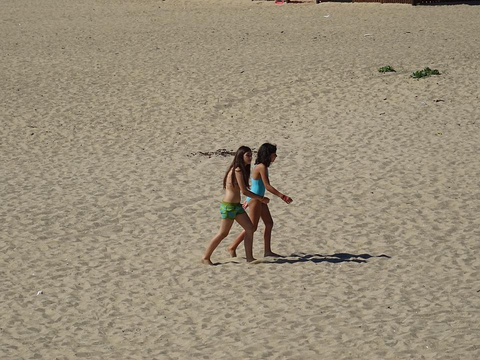 Beach, Children, Sand, Child, Summer, Family, Girl, Sea