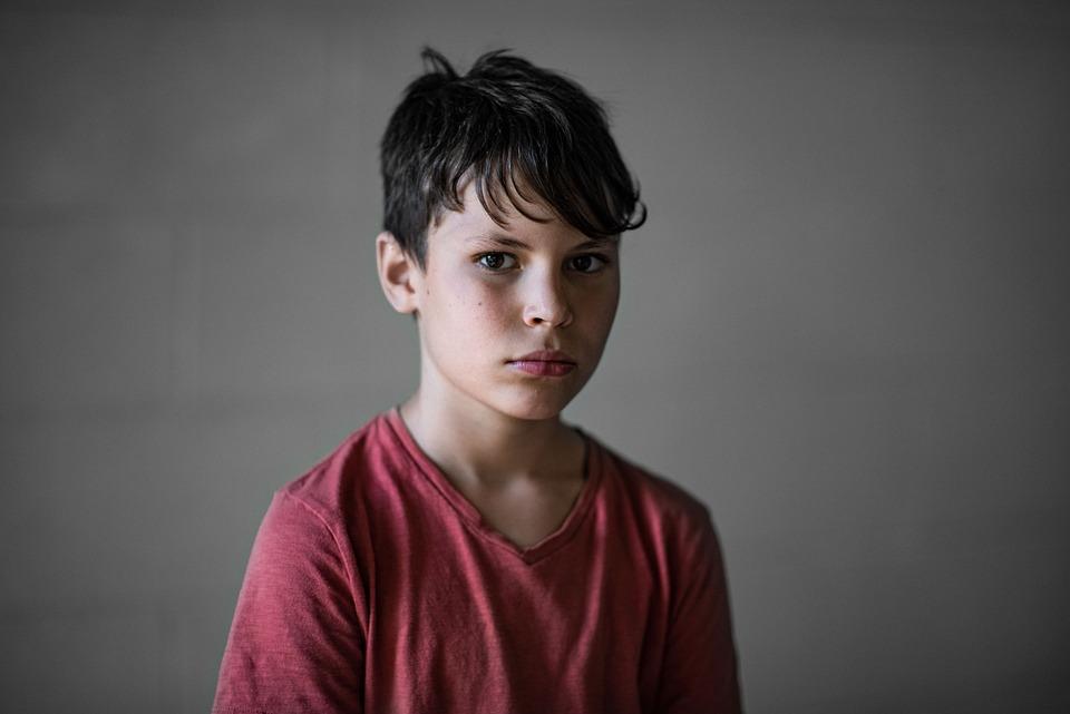 Portrait, Boy, Serious, Summer, Child, Young