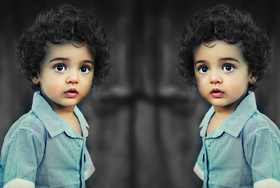 Child, Black And White, Shirt, Curly