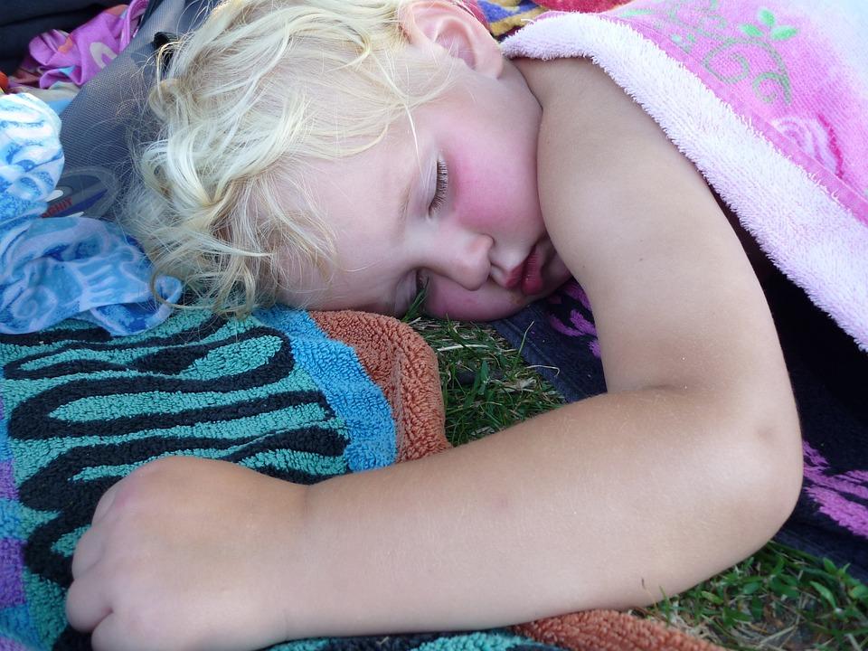 Sleeping, Child, Girl, Sleep, Towel, Mouth, Pink, Blond