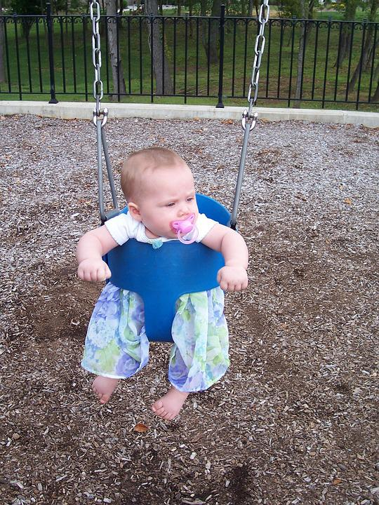 Child, Swing, Park, Play, Swinging, Girl, Baby