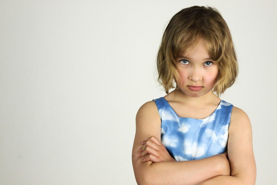Child, The Little Girl, Anger, Bad Mood