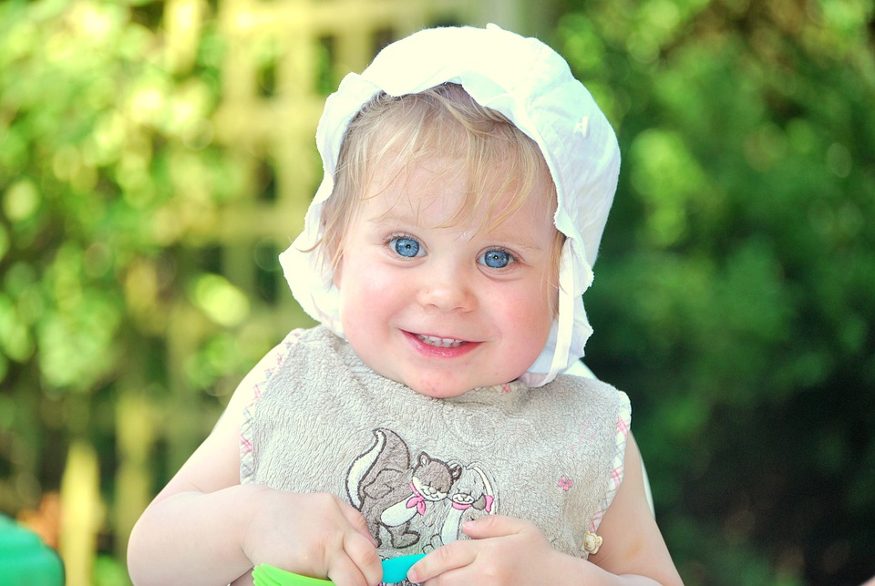 Baby, Child, Smile, Girl, Toddler, Cap, Happy, Eyes