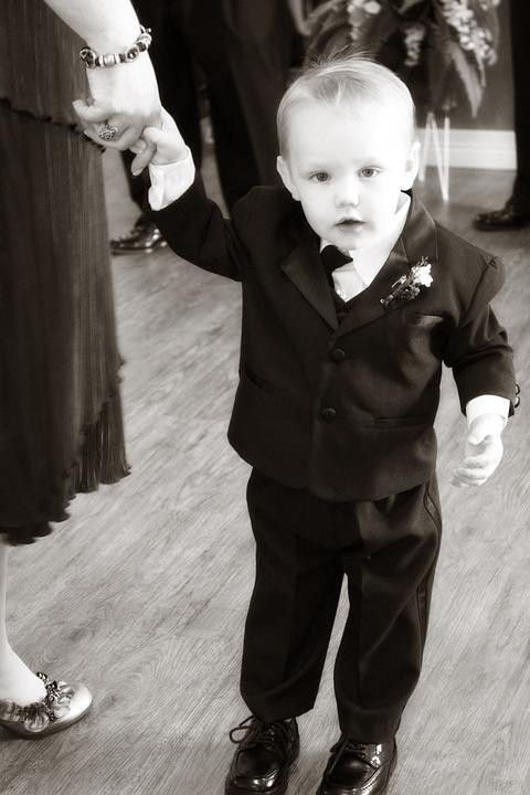 Child, Boy, Tux, Suit, Cute, Cheerful, Toddler, Male