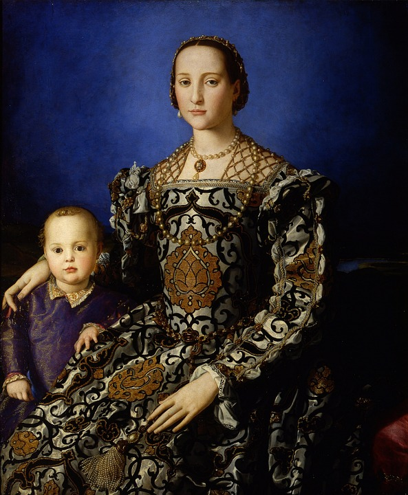 Eleanor Of Toledo, Woman, Child, Mother, Painting