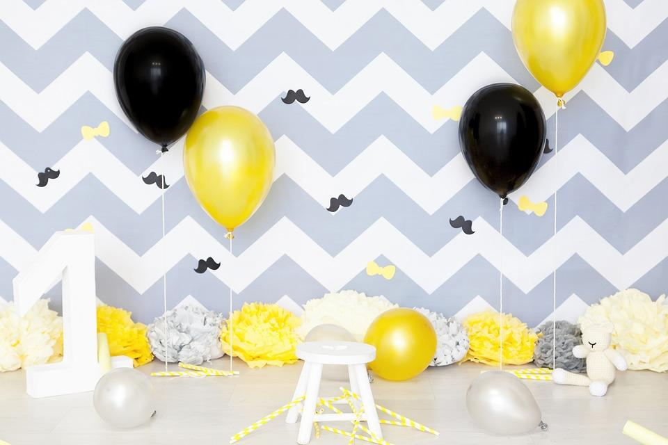 Baby, Boy, Birthday, Yellow, Child, Kid, Backdrop