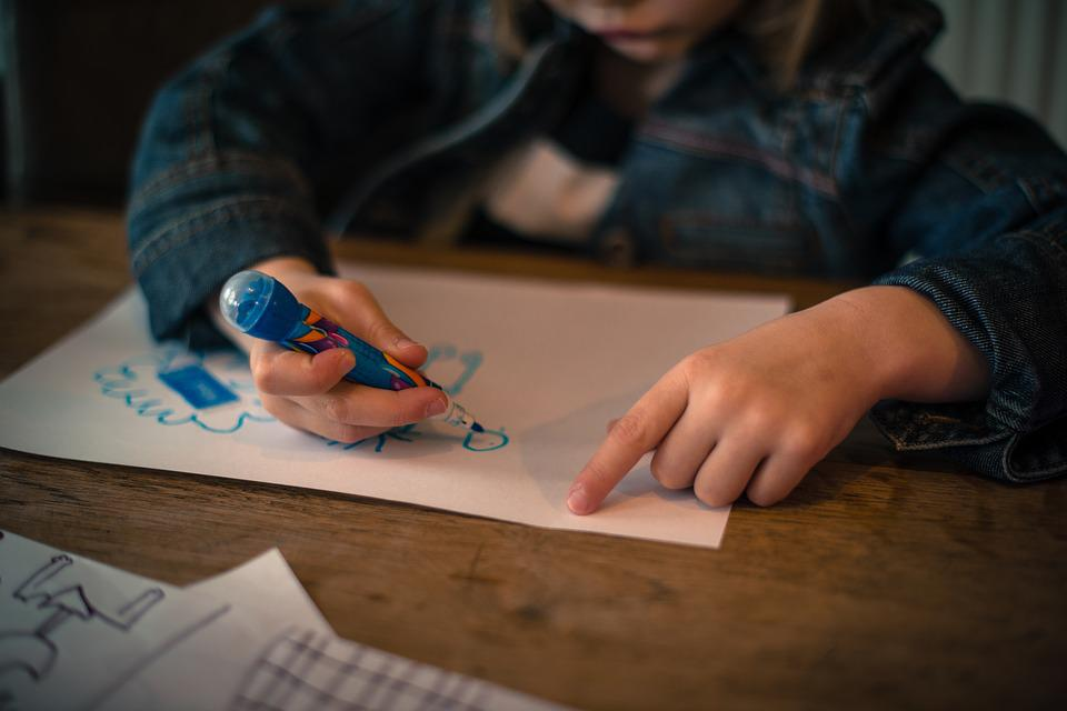 Kid, Girl, Drawing, Child, Happy, Cute, Female, Young