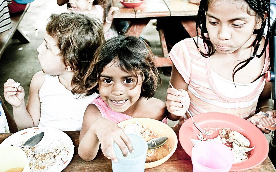 Orphans, Kids, Eating, Poverty, Childhood, Hungry