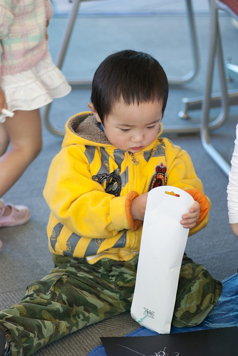 Boy, Asian, Infant, Sitting, Child, People, Childhood