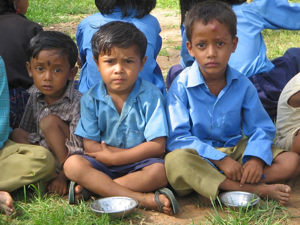 Kids, Rajasthan, Children, Indian, Meal, Baran, Infants