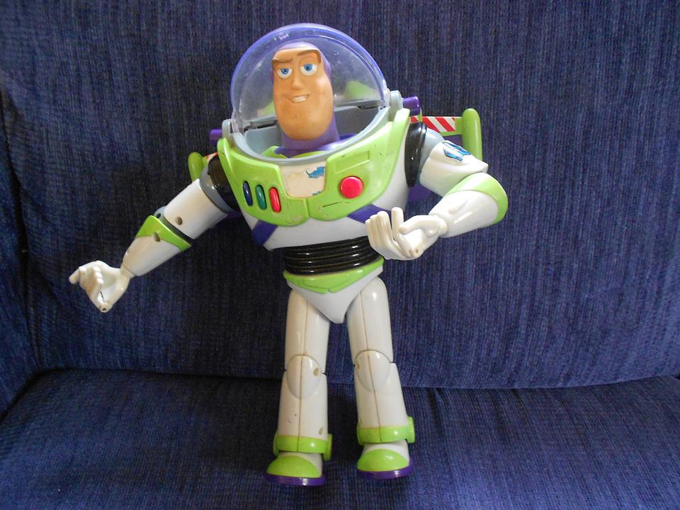 Buzz Lightyear, Toy, Plastic, Play, Children, Fun