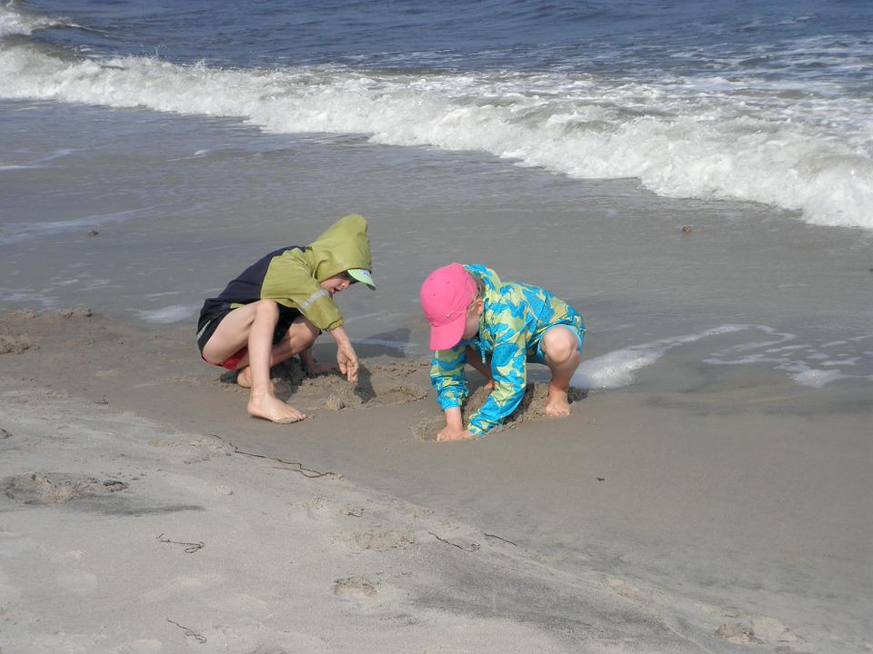 Children, Baltic Sea, Play, Beach, Water, Coast, Usedom