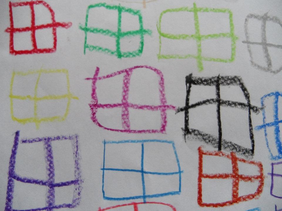 Window, Children Drawing, Pattern, Many Window