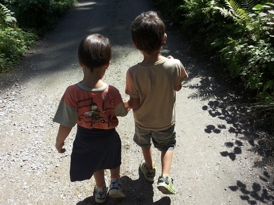 Children, Brothers, Walk, Kids, Friendship