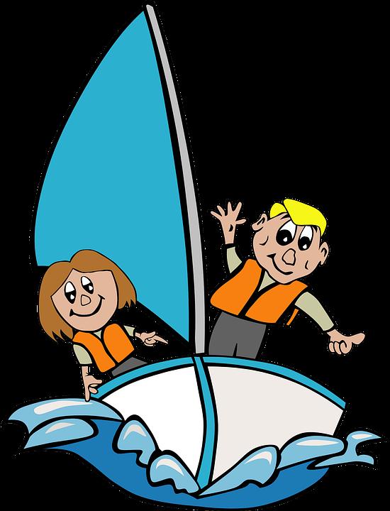 Sailboat, Children, Playing, Kid, Girl, Sailing, Sea