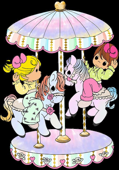 Children, Sketch, Drawing, Ride, Play, Amusement
