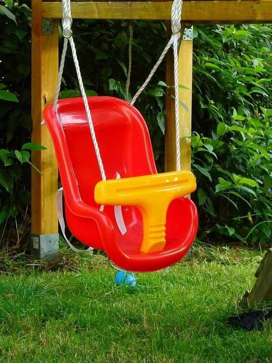 Swing, Children, Playground, Play, Game Device