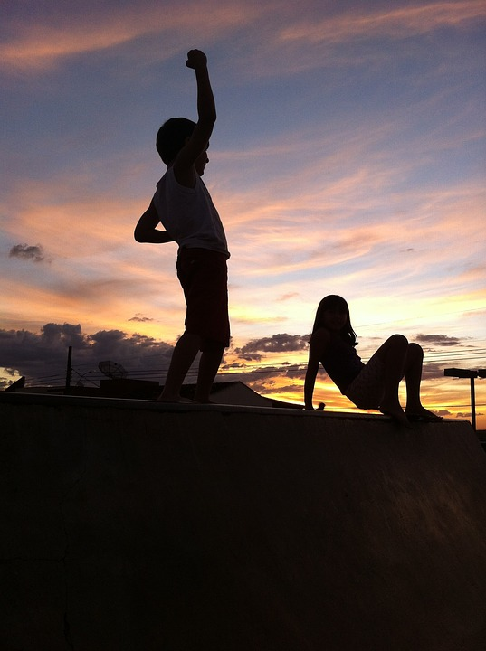 Coromandel, Children, Sunset, Tadeusz, Eventide, Play