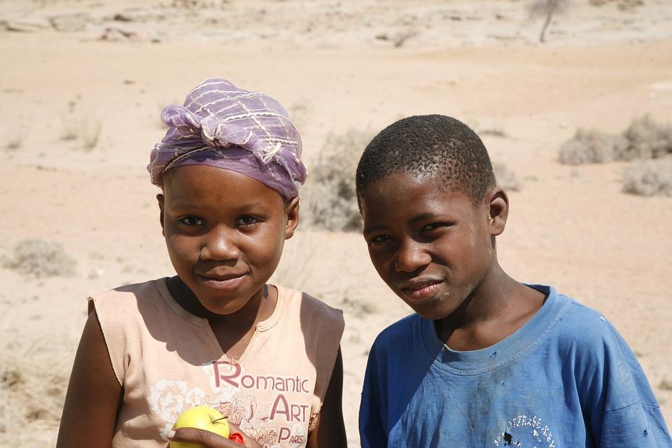 Children, Afrigan, Black Skin, Poverty, Boy, Girl