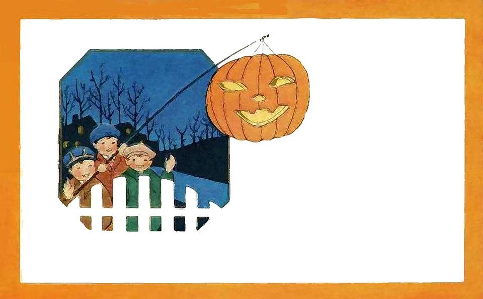 Halloween, Pumpkin, Night, Children, Fairy Tale