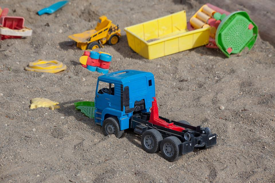 Sand Pit, Children, Children Toys, Holiday, Sand