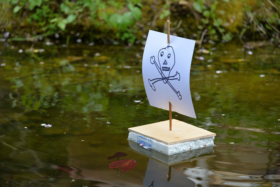 Pirate, Pirate Ship, Ship, Children, Pond, Lake, Tinker