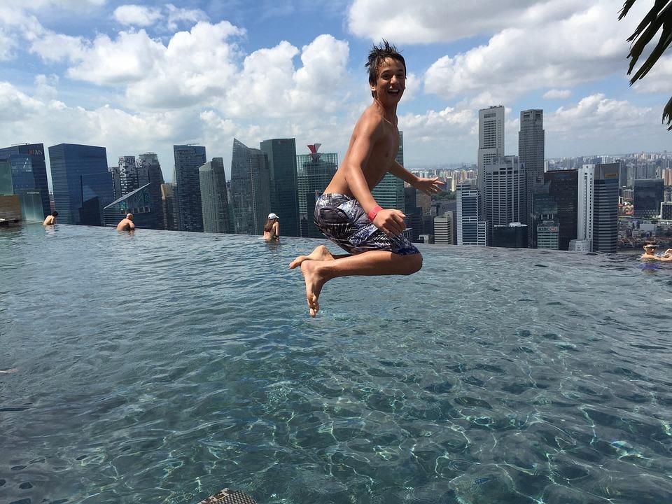 Jump, Singapore, Marinabaysands, Children