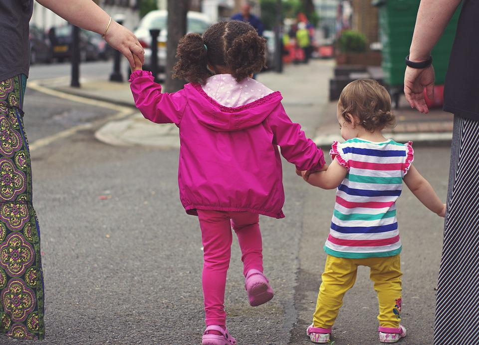 Children, Kids, Babies, Walking, Street, Together