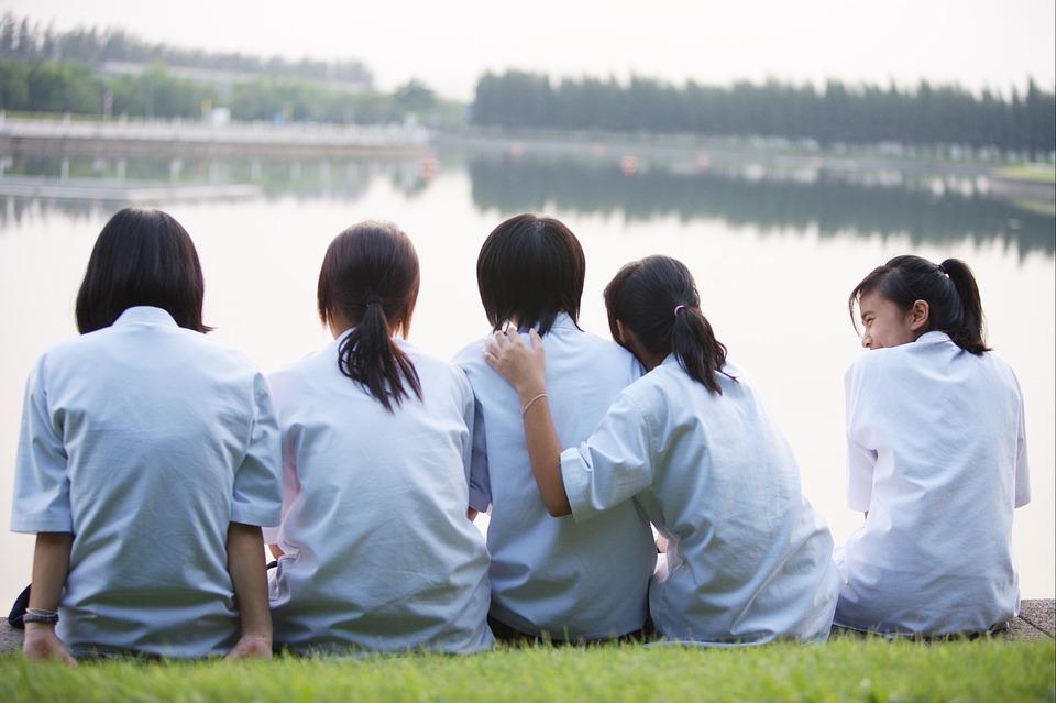 Children, Girls, Friends, Thailand, Asia, Thai, Young