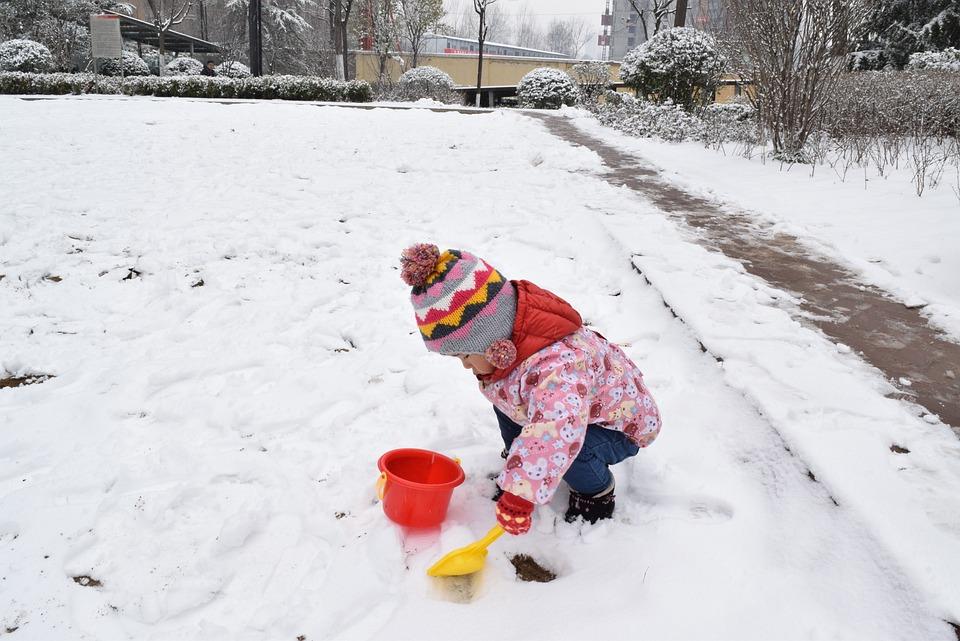 Snow, Children, Toys