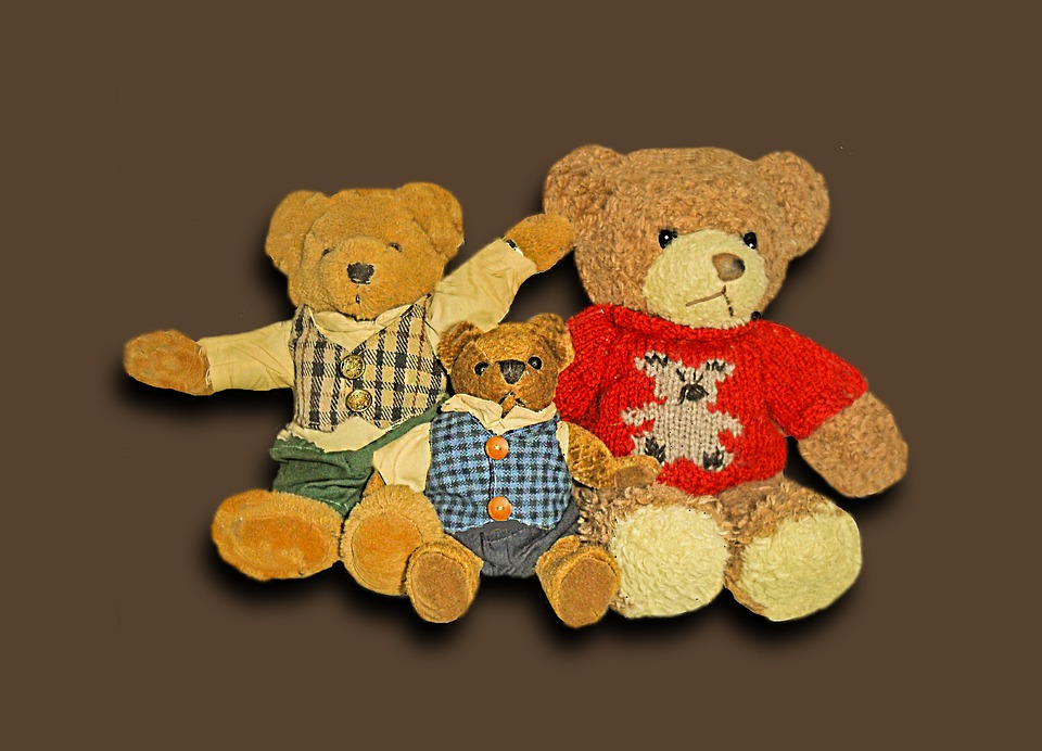 Bear, Toys, Soft Toy, Children Toys, Bear Family